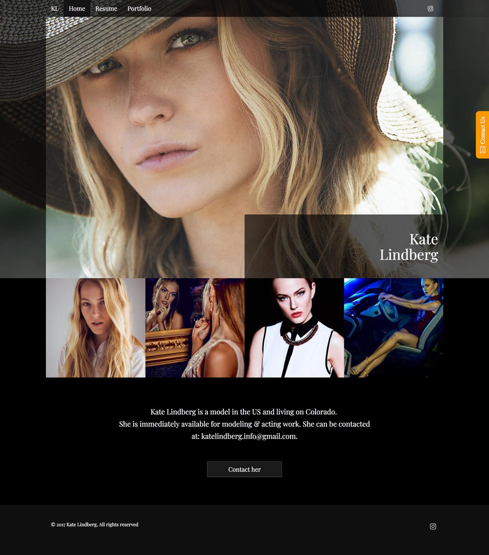 Kate Lindberg Home full desktop site