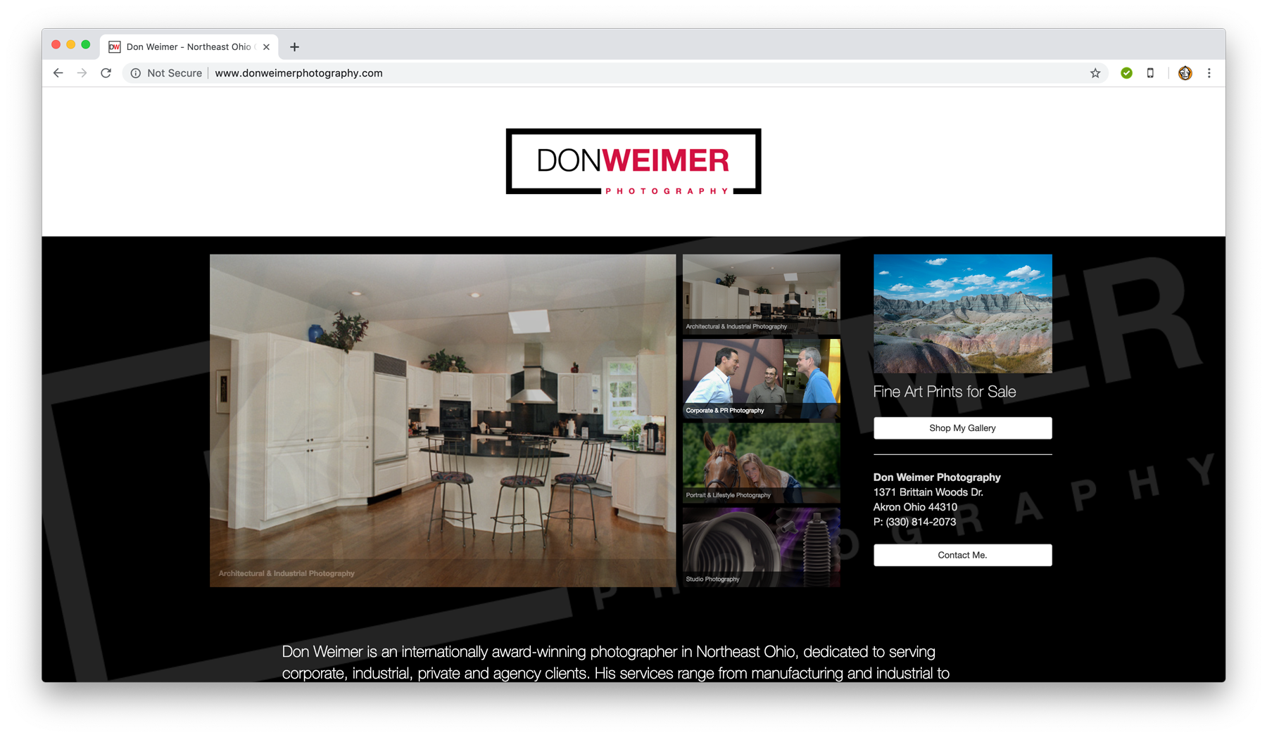 Don Weimer Photography Website