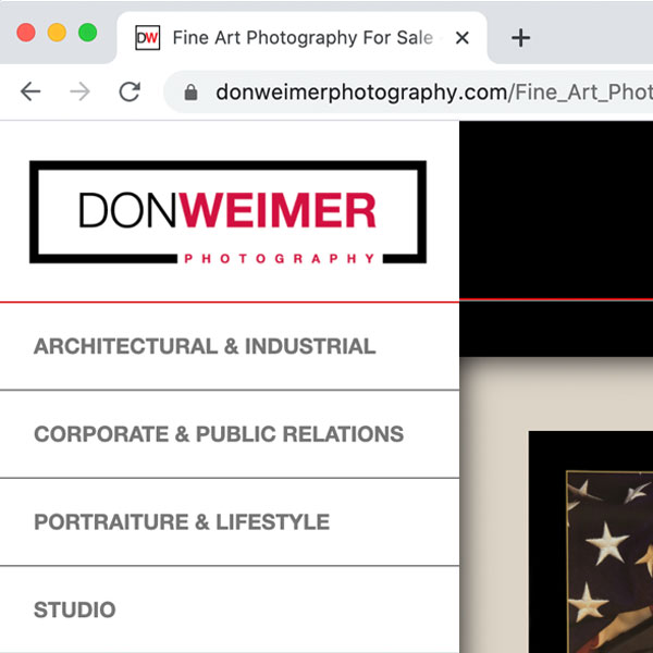 Don Weimer Photography Website
