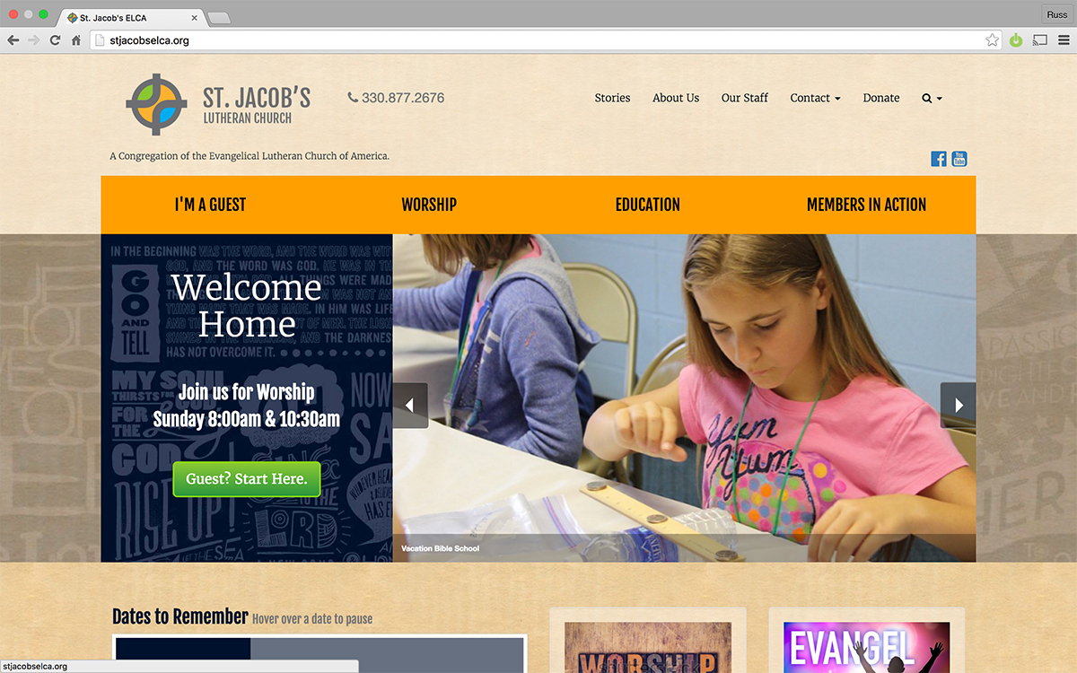 Home page for St Jacob's Church Website